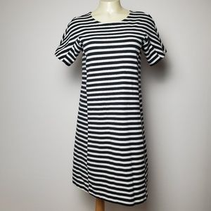 J. CREW STRIPED A-LINE DRESS SIZE XS